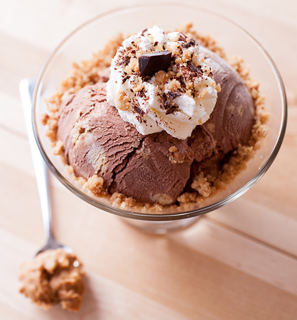 Chocolate Peanut Butter Cookie Dough Ice Cream